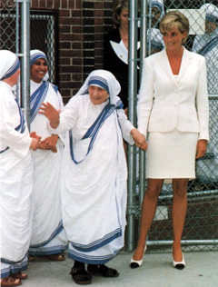 Mother Teresa with Princess Diana, Calcutta, India